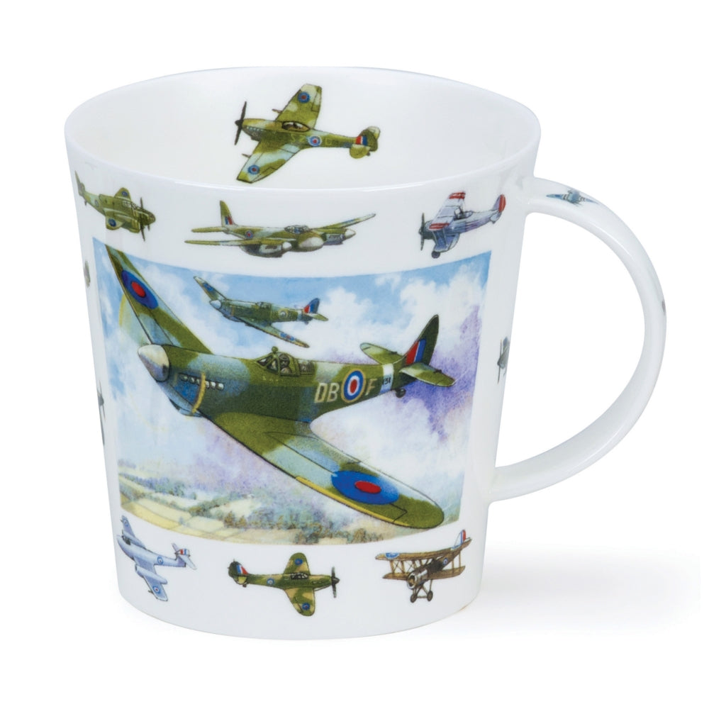 Dunoon Fine Bone China Vintage Collections Planes Mug
