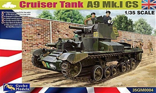 Gecko 1/35 Scale Cruiser Tank A9 MK.1 CS Model