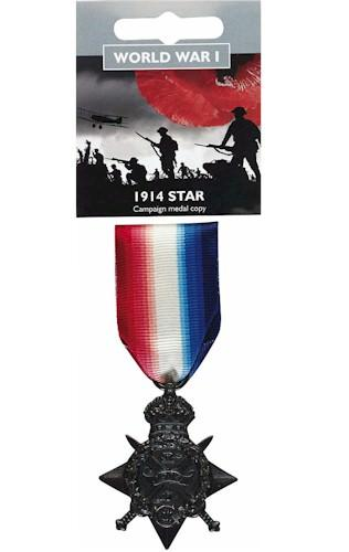 Replica Full Size 1914 Star Campaign Medal