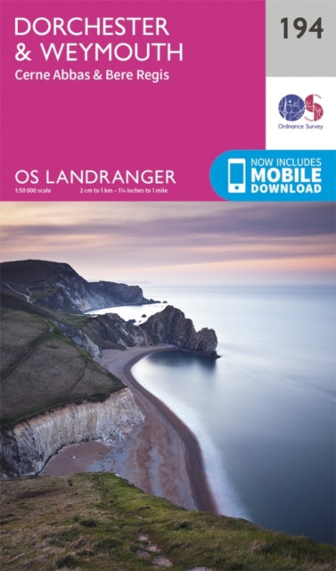 Ordnance Survey OS Landranger Map: Dorchester and Weymouth: 194