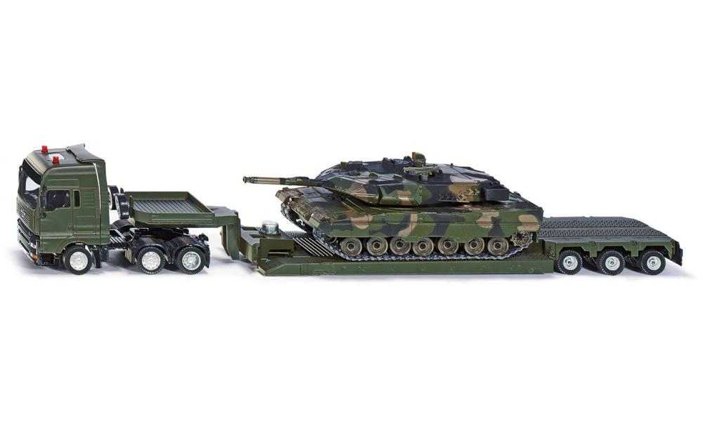 Siku Low Loader with Battle Tank 1:50 - The Tank Museum