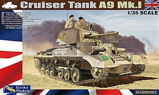 Gecko 1/35 Scale Cruiser Tank A9 MK.1 Model - The Tank Museum