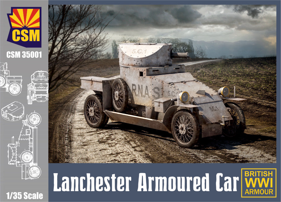 CSM 1/35 Scale Lanchester Armoured Car