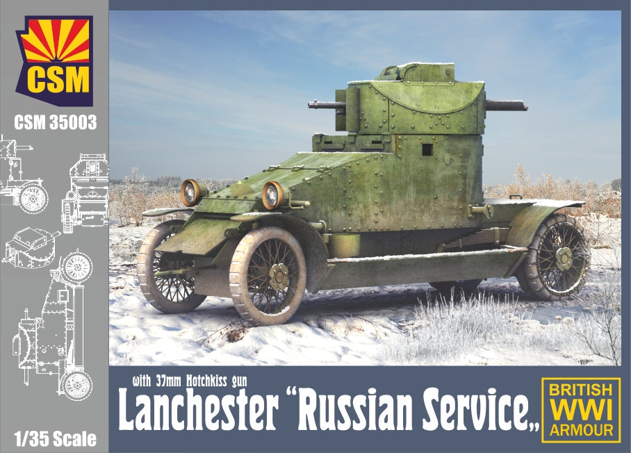 CSM 1/35 Scale Lanchester Armoured Car ''Russian Service''
