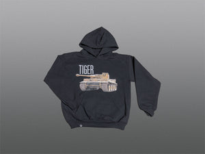 Kids Black Tiger Hoodie - The Tank Museum