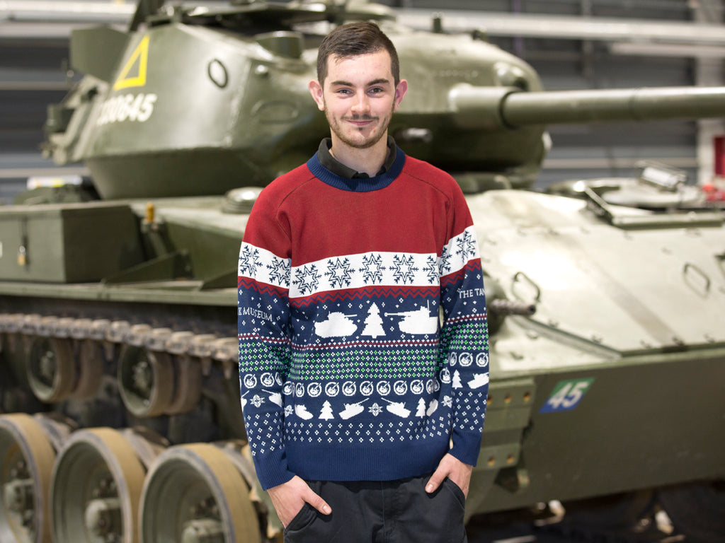 2019 Style Knitted Christmas Jumper - The Tank Museum