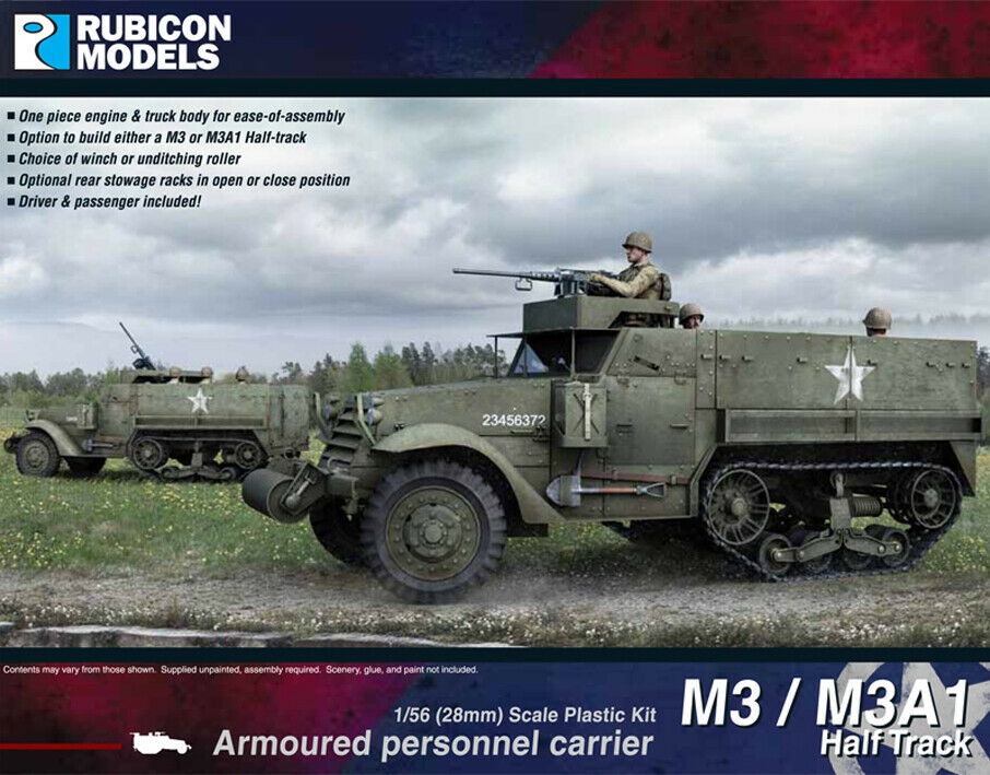 Rubicon Models 1/56 M3/M3A1 Halftrack