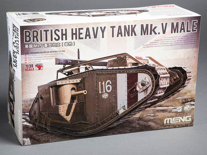 Meng British Heavy Tank Mk V Male
