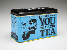 Load image into Gallery viewer, ENGLAND NEEDS YOU! Tin with 40 English Afternoon Teabags - The Tank Museum