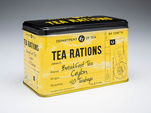 Tea Rations English Breakfast Tea Tin with 40 Teabags - The Tank Museum