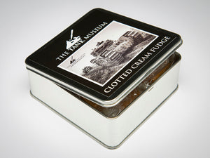 Tin of 100g Clotted Cream Fudge - The Tank Museum