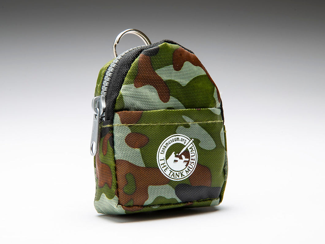 Camouflage Small Rucksack Keyring - The Tank Museum