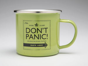 OOS Dad's Army 'Don't Panic!' Enamel Mug - The Tank Museum