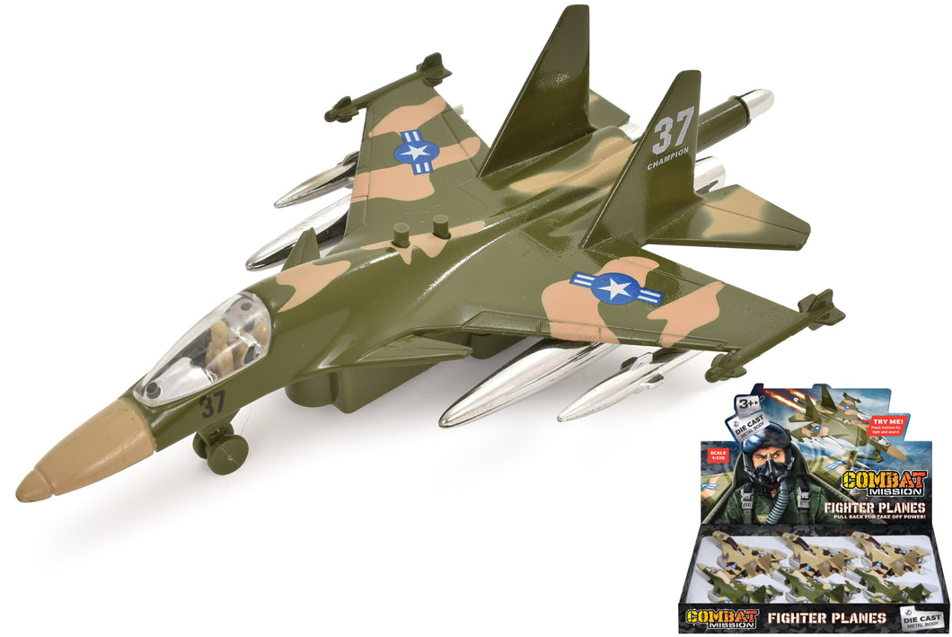Combat Mission: Die Cast Jet Fighter Plane