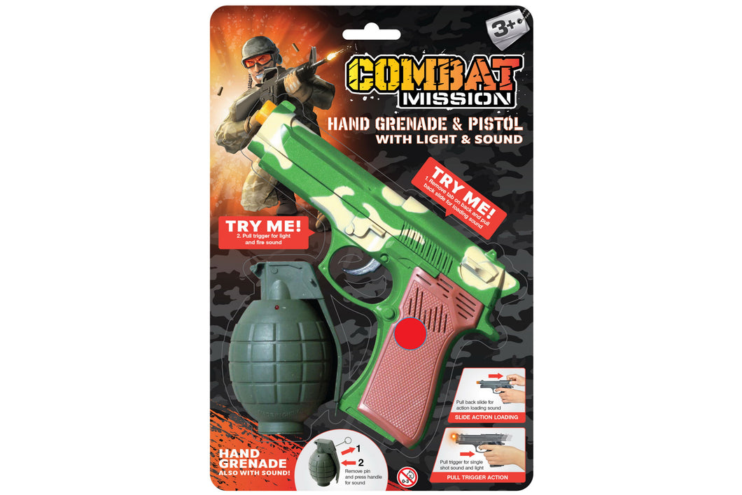 Toy Hand Grenade And Pistol