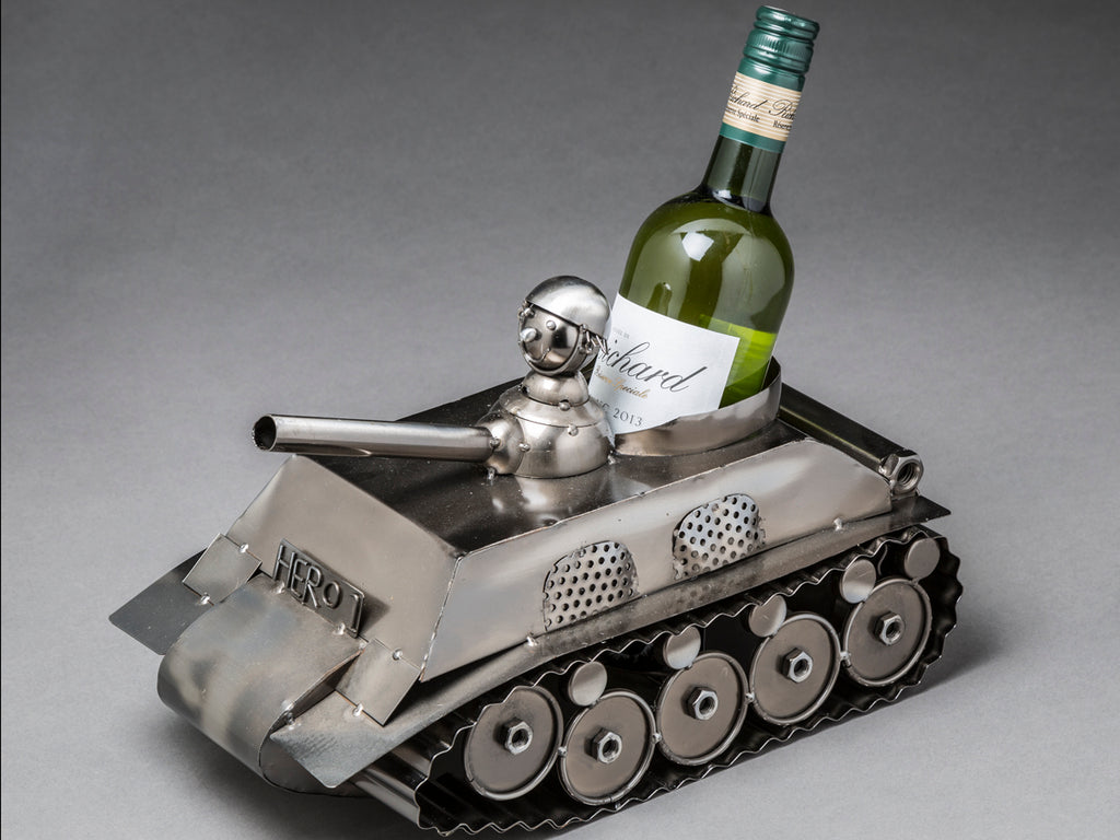 Tank Wine Bottle Holder
