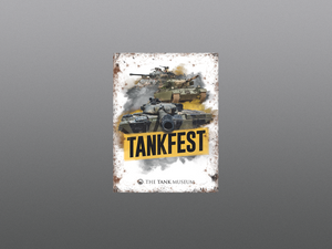 TANKFEST Mini Metal Sign - The Tank Museum