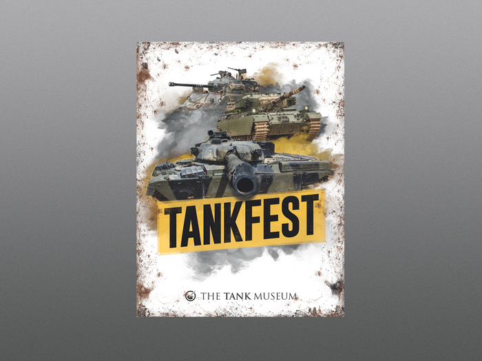 TANKFEST Metal Sign
