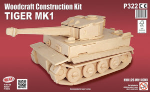 Tiger I Woodcraft Kit - The Tank Museum