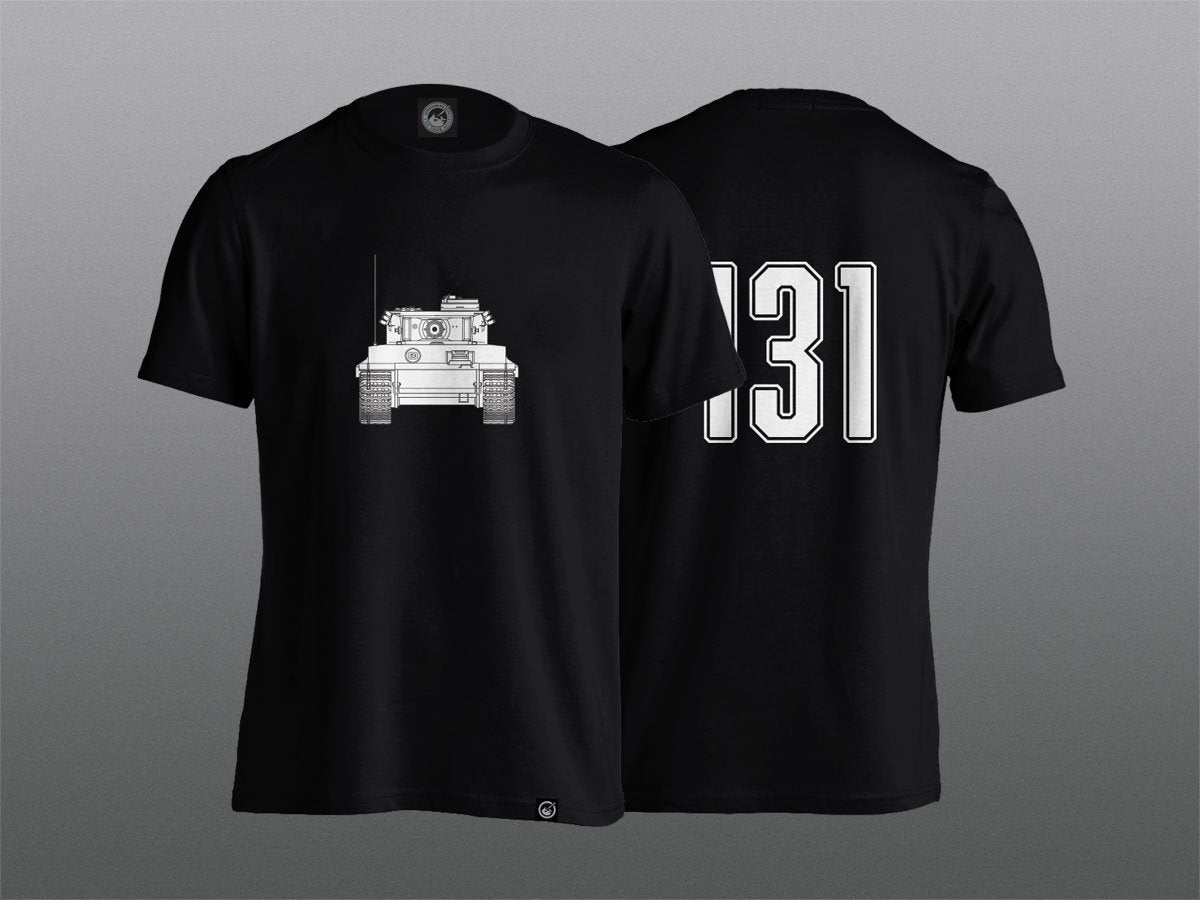 2bf48caf7d1b Tiger T-Shirt with 131 Back Detail – The Tank Museum