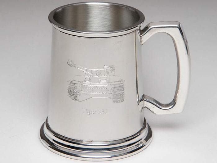 Tiger 131 Pewter Tankard