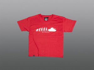 Kids Evolution of Man T-Shirt - The Tank Museum