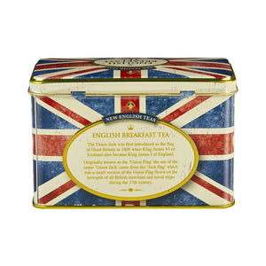 Union Jack Tea Tin with 40 English Breakfast Tea Bags - The Tank Museum