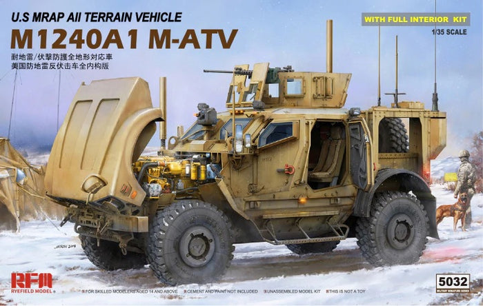Ryefield 1/35 US MRAP All Terrain Vehicle M1240A1 M-ATV