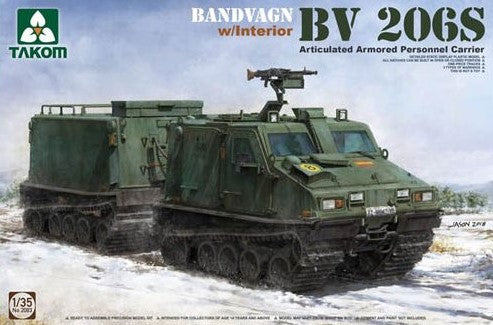 Takom 1/35 Bandvagn BV 206S Articulated APC Model Kit