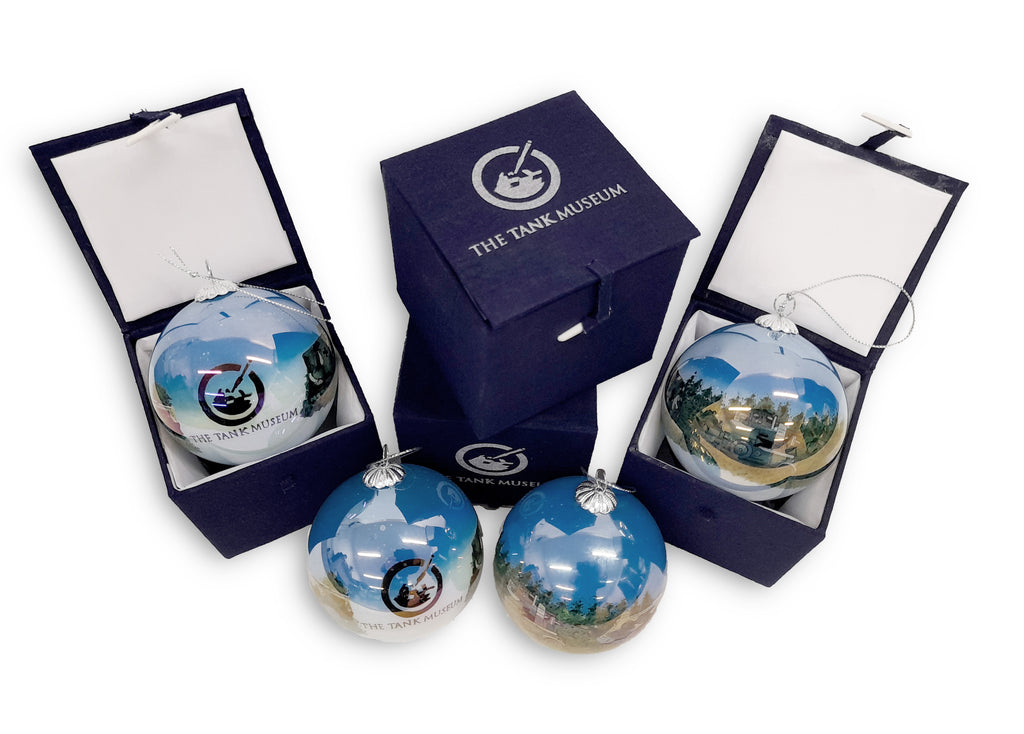 Tank Museum Christmas Bauble - Blue - The Tank Museum