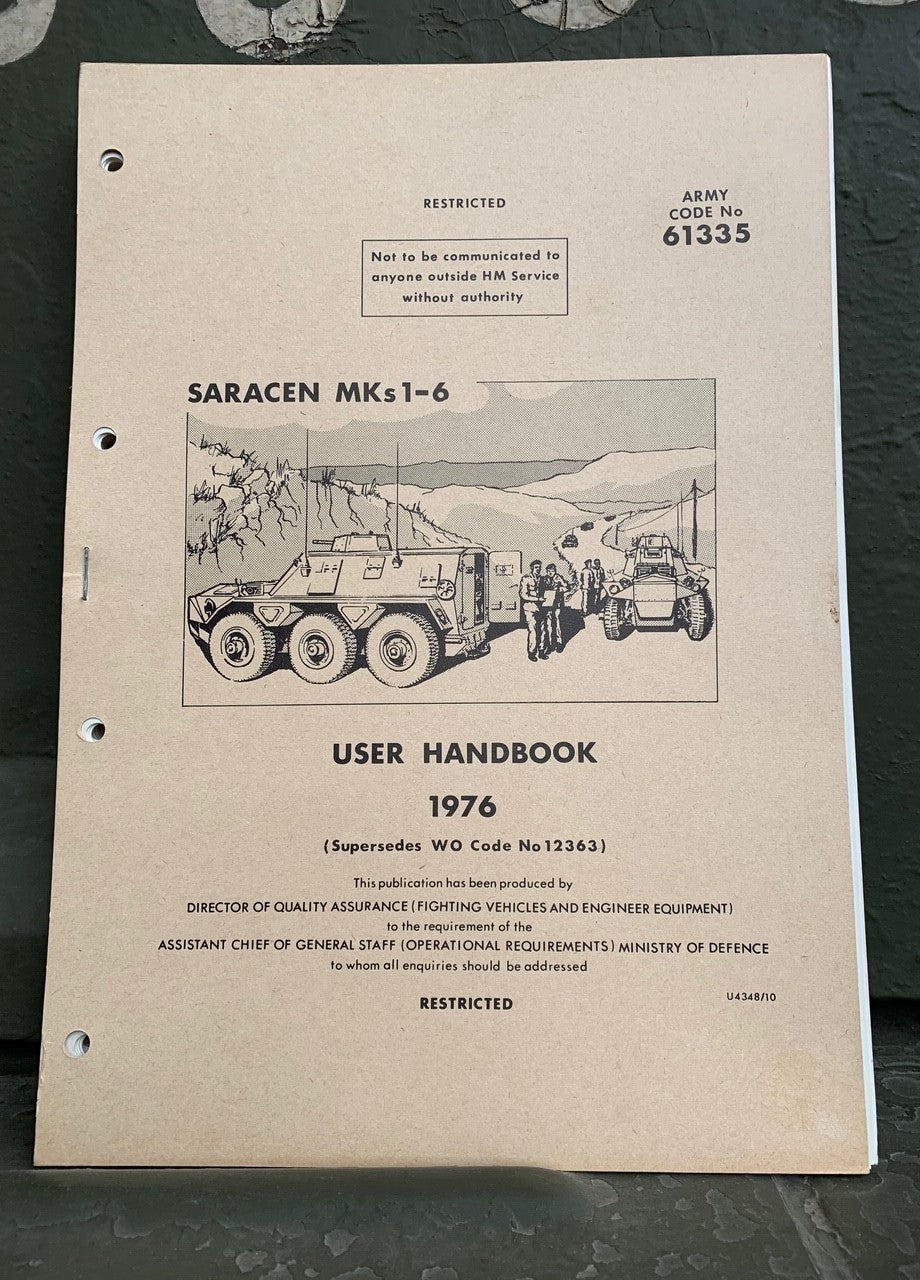 Saracen Mks 1-6 User Handbook - The Tank Museum