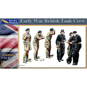 1/35 scale Early War British Tank Crew Figures - The Tank Museum