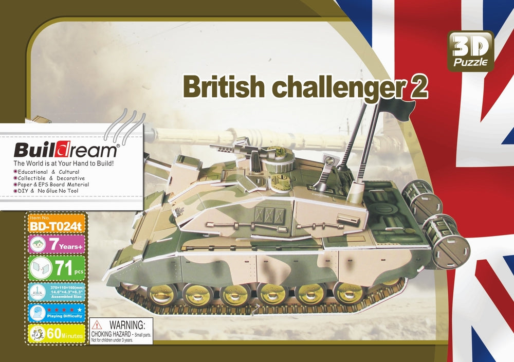 British Challenger 2 3D Puzzle - The Tank Museum