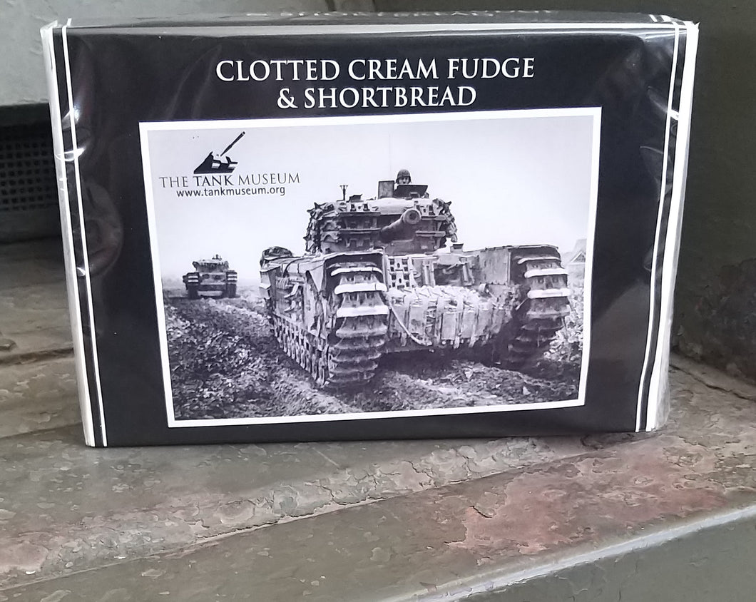 Clotted Cream Fudge and Shortbread box 400g - The Tank Museum
