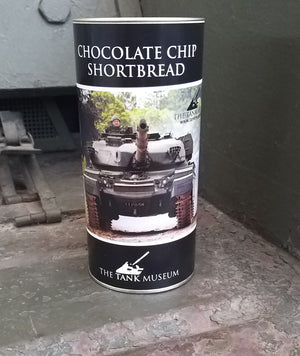 Chocolate Chip Shortbread Drum - The Tank Museum