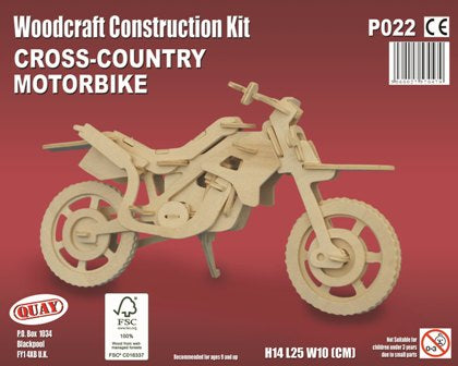 Cross-Country Motorbike Woodcraft Kit - The Tank Museum