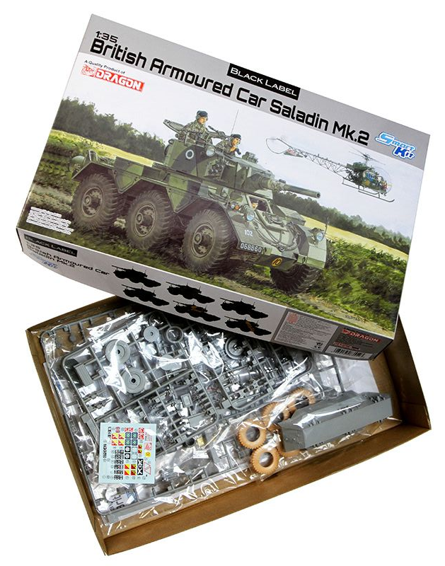 Dragon Models 1/35 British Armoured Car Saladin Mk. II