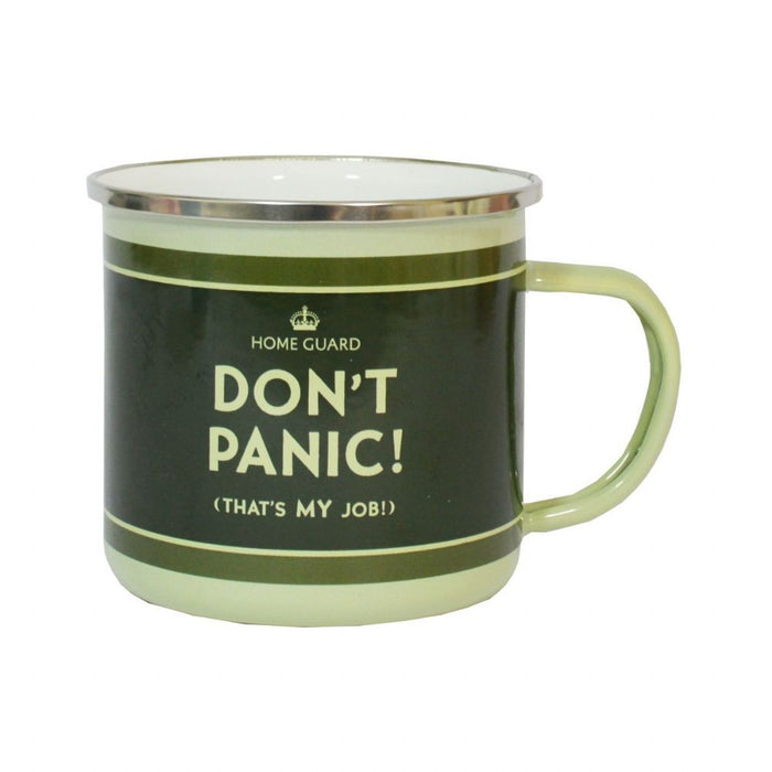 Dad's Army 'Don't Panic (That's My Job!)' Enamel Mug