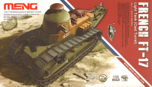 Meng 1/35 French FT-17 light tank (Cast Turret) - The Tank Museum