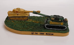 Tiger 131 and Sherman Fury Resin Model - The Tank Museum