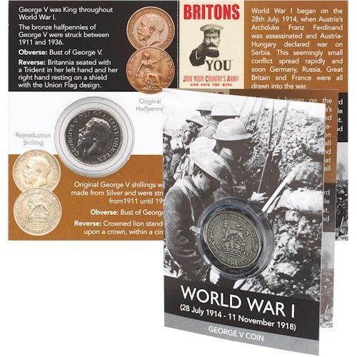 Replica World War 1 George V Shilling