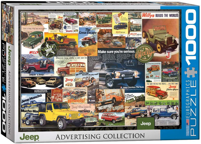 Jeep Advert Collection 1000-piece Jigsaw Puzzle