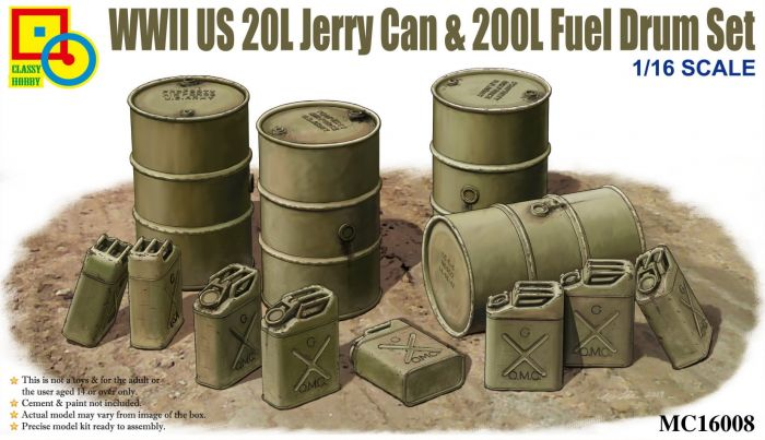 WW2 US 20L Jerry Can & 200L Fuel Drum Set - The Tank Museum