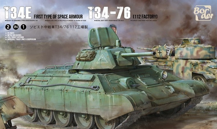 Border Model 1/35 T34E / T34-76 factory 112.