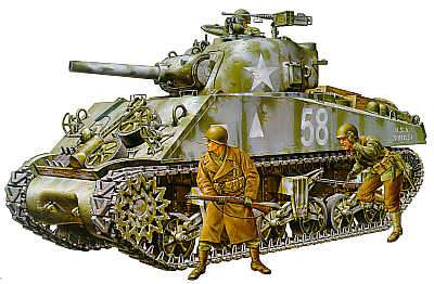 Tamiya 1/35 M4A3 Sherman   105mm Howitzer - The Tank Museum