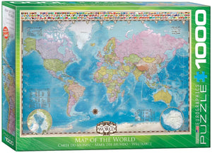 OOS Map of the World 1000-piece Jigsaw Puzzle - The Tank Museum