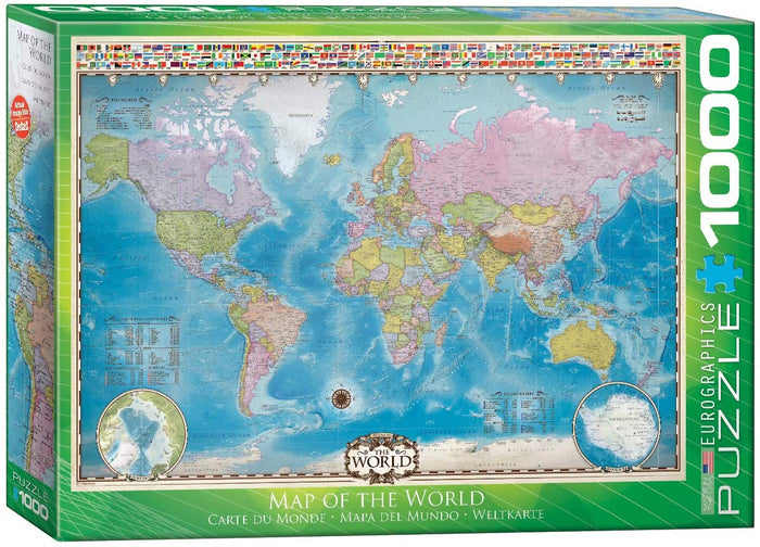 Map of the World 1000-piece Jigsaw Puzzle