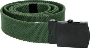 Highlander US Style Military Belt- Olive - The Tank Museum