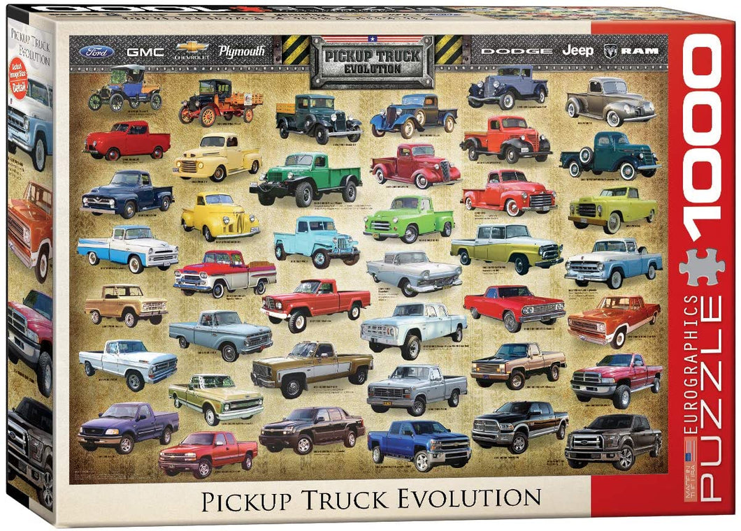 Pickup Truck Evolution 1000-piece Jigsaw Puzzle - The Tank Museum