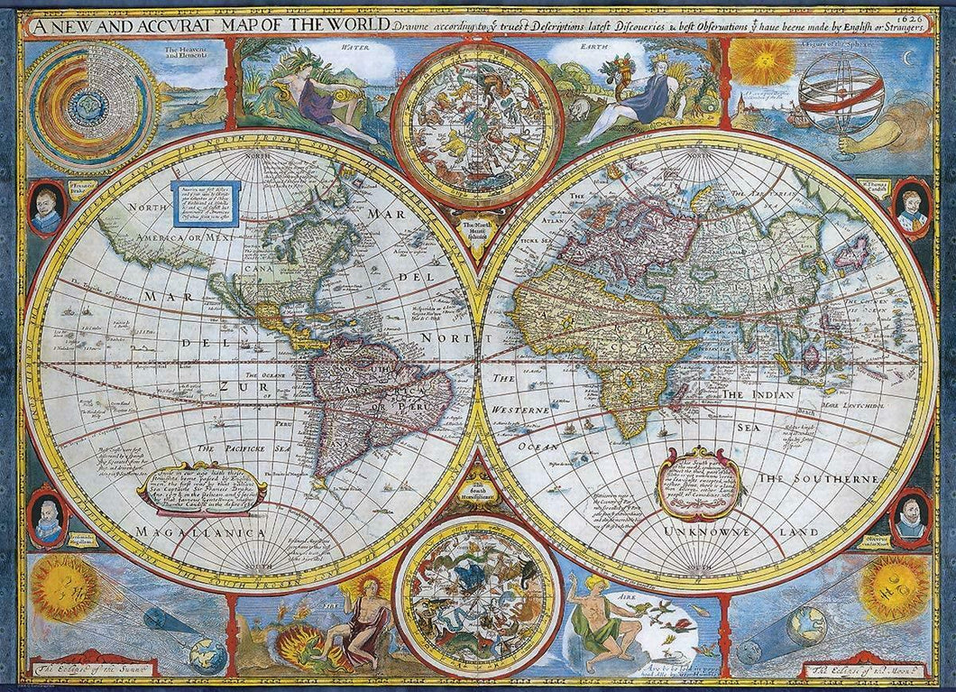 Antique world map 1000-piece Jigsaw Puzzle